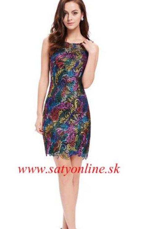 Krajkové krátke šaty 5304 SKLADOM