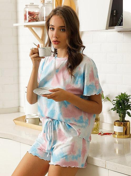 Tie Dyi krátke Pyžamo