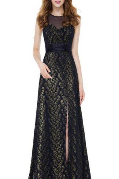 Čierne šaty 8950 SKLADOM