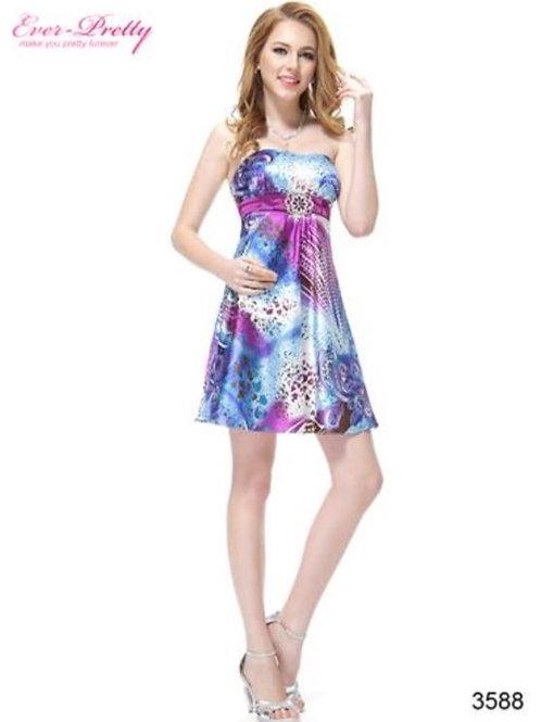Vzorované krátke šaty 3588 SKLADOM
