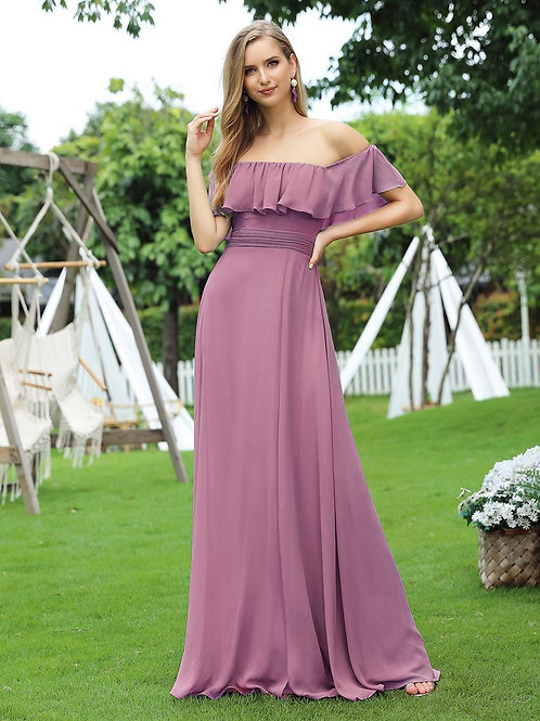 Fialové šaty s volánom ORCHID 0968