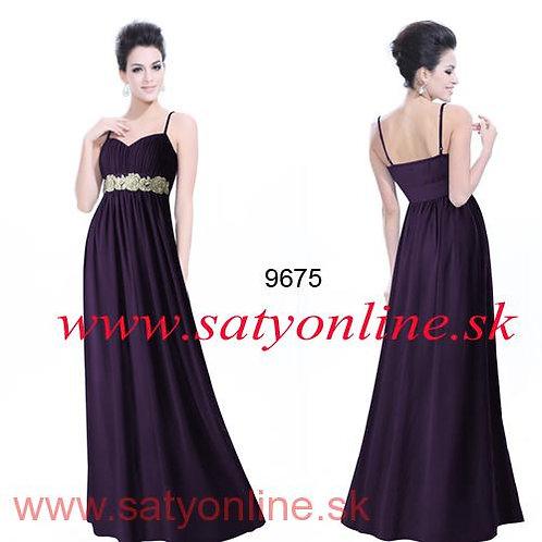 Fialové šaty 9675 SKLADOM