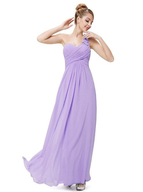 Fialové šaty na jedno rameno 9768 SKLADOM