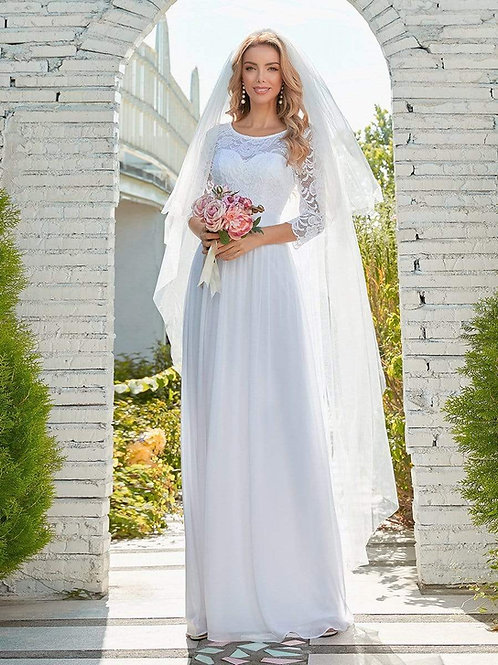 Biele svadobné krajkové šaty7412