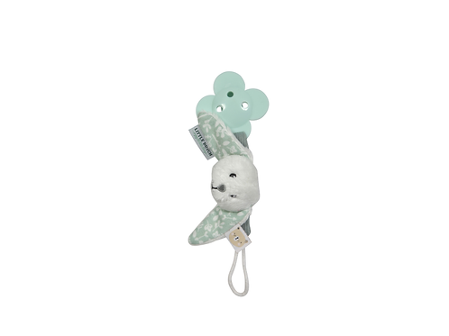 Little Dutch Pacifier Clip MINT Bunny