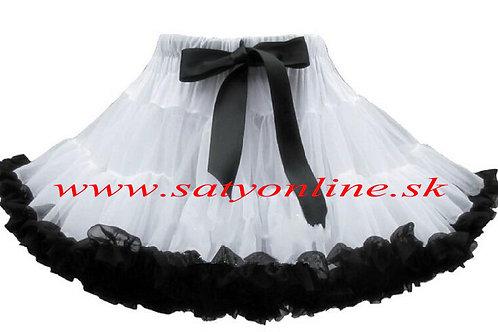 Biela čierna  DOLLY sukňa XL SKLADOM