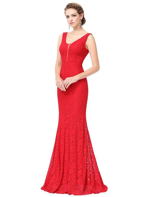 Červene šaty 8838 SKLADOM