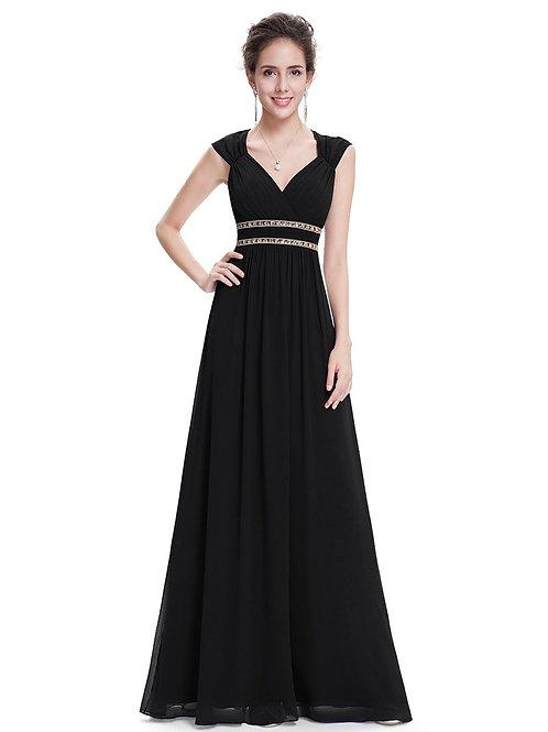 Čierne Spoločenské šaty 8697 SKLADOM