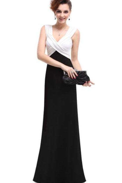 Čierno biele šaty 9051 SKLADOM