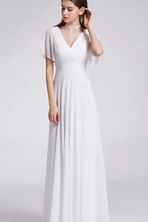 Biele Svadobné- Spoločenské  šaty  9890