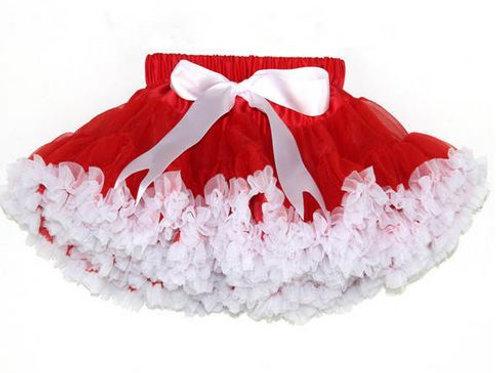 Červeno biela DOLLY sukňa