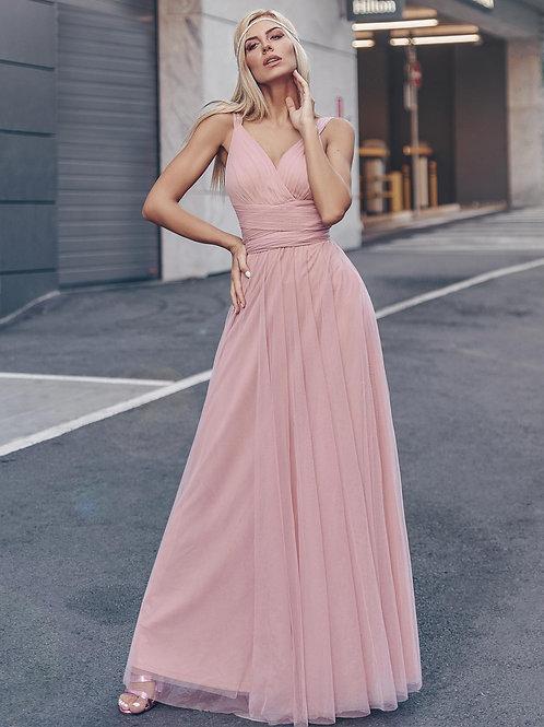 Ružové spoločenské šaty 7303
