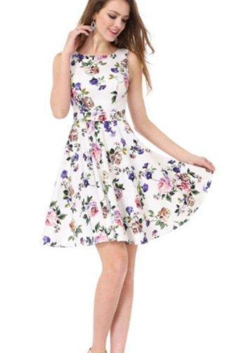 Kvetované spoločenské šaty 5488 SKLADOM
