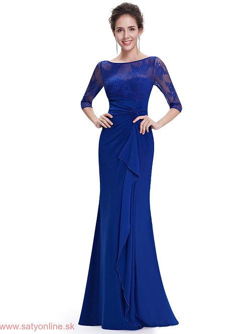 Modré krajkové šaty 8711 SKLADOM