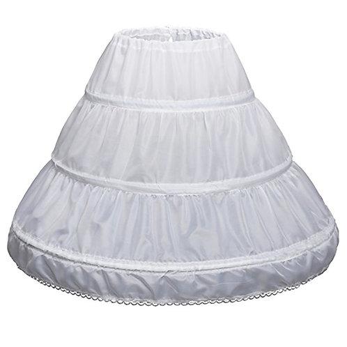 Biela spodnica pod dievčenské šaty