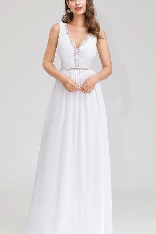 Biele Svadobné-Spoločenské šaty 0899