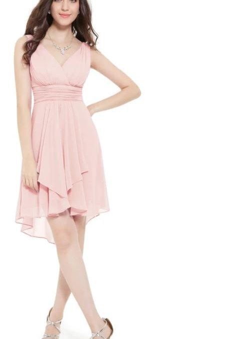 Ružove spoločenské šaty 3644 SKLADOM