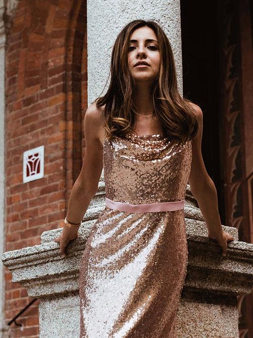 Zlaté ROSE šaty 7087