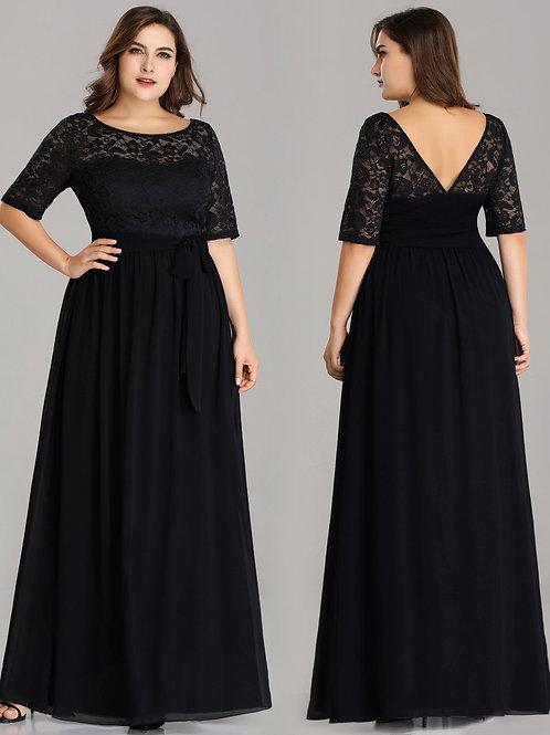 Čierne spoločenské šaty 7624