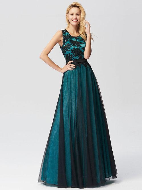 Tyrkysové krajkové šaty 7545