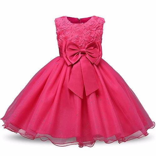 Cyklamenove dievčenské šaty FLOWER Skladom