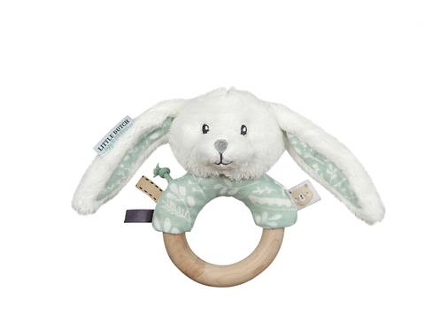 LITTLE DUTCH Hrkajúci Zajačik s Dreveným Krúžkom MINT