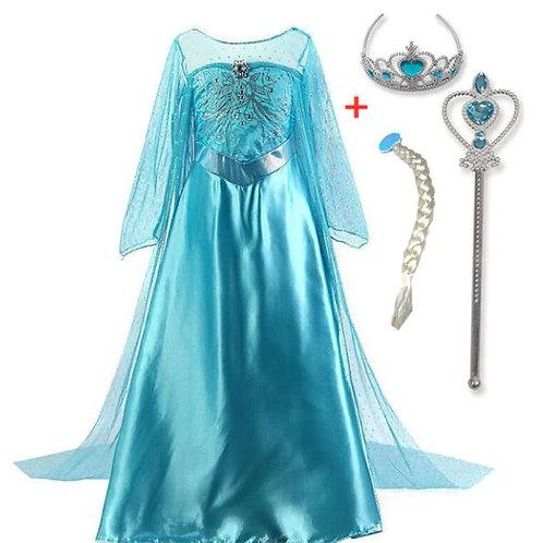 ELSA šaty - Karnevalový kostým princezná Elsa 3+Doplnky