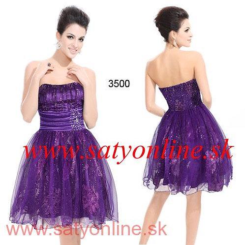 Fialové krátke TUTU šaty 3500 SKLADOM
