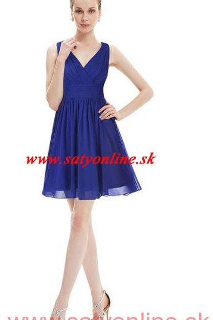 Modré krátke šaty 3989 SKLADOM