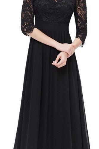 Čierne krajkované šaty 8412 SKLADOM
