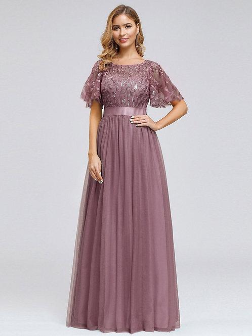 Fialové šaty s rukávom ORCHID  0904