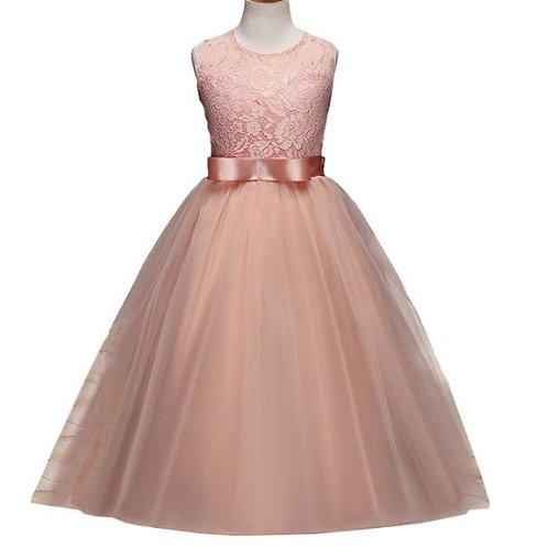 Marhuľkové dievčenské šaty SKLADOM