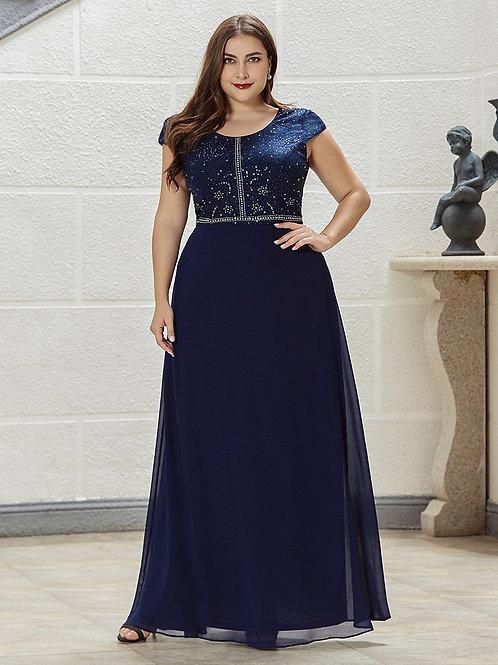Modré šaty pre MOLETKY 0533