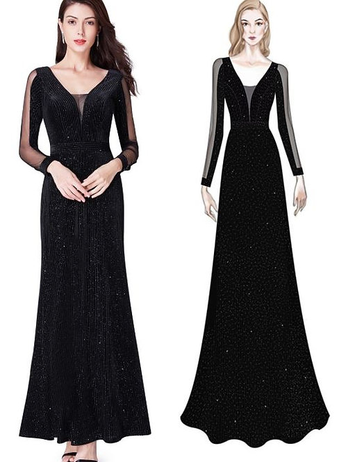 Čierne šaty 7394