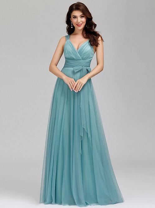 Spoločenské šaty  DUSTY BLUE 7303
