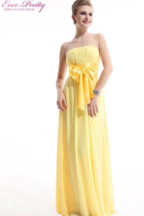 Žlté spoločenské šaty 9060 SKLADOM
