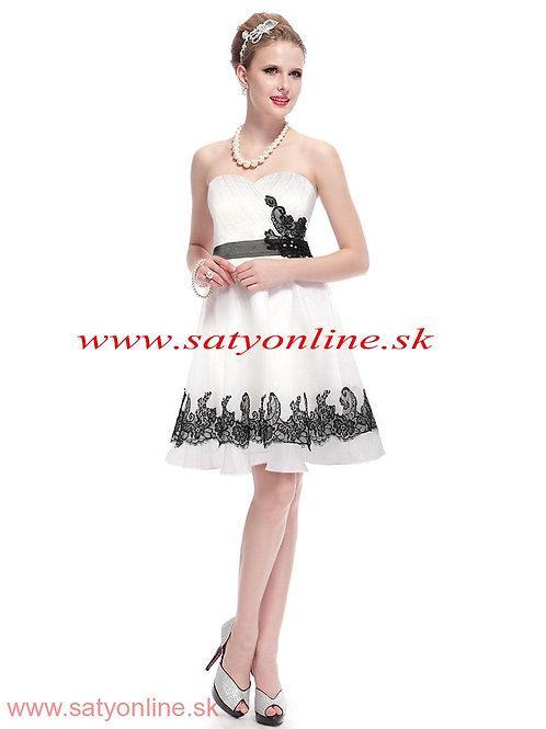 Biele krátke šaty 3962 SKLADOM