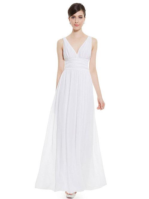 Biele Svadobné- Spoločenské šaty 9016