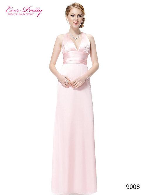 Ružové saténové šaty 9008 SKLADOM