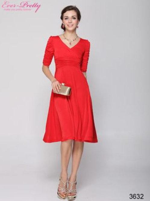 Červene krátke šaty 3632 SKLADOM