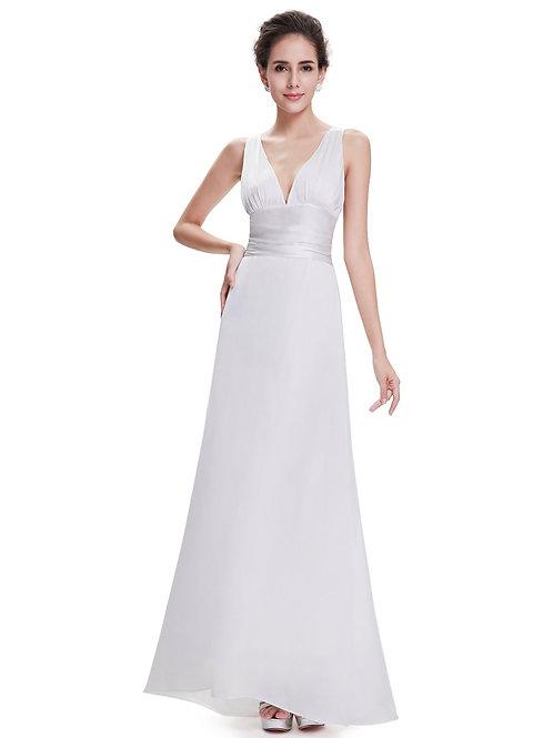 Biele Saténové šaty 9008 SKLADOM