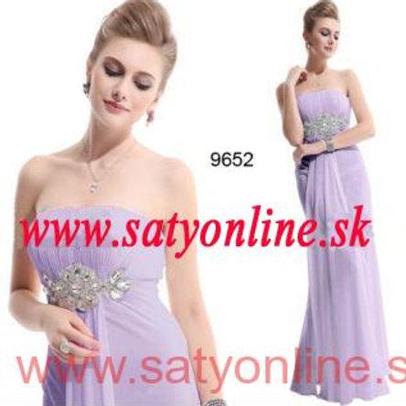 Fialové šaty 9652 SKLADOM