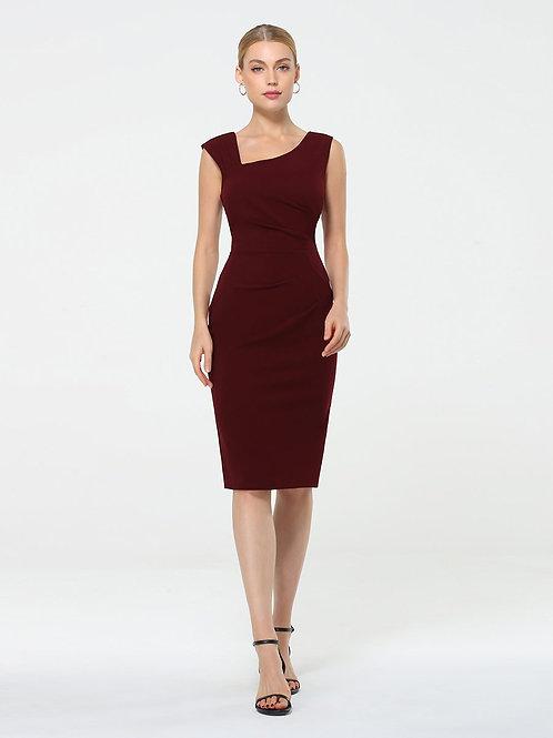 Bordové pohodlné krátke šaty