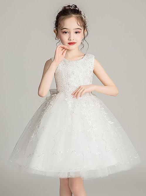 Biele krajkové dievčenské šaty EP