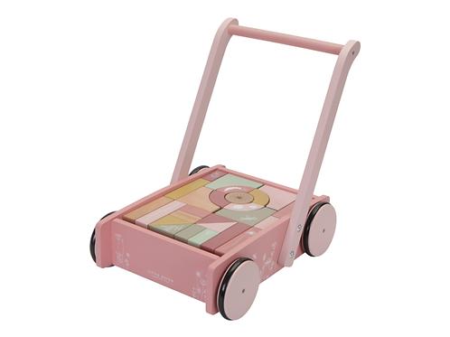 Little Dutch Vozíček s kockami Pink Flowers