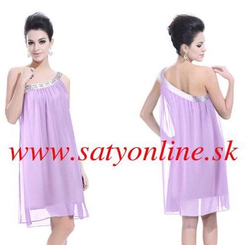 Fialové krátke šaty 3388 SKLADOM