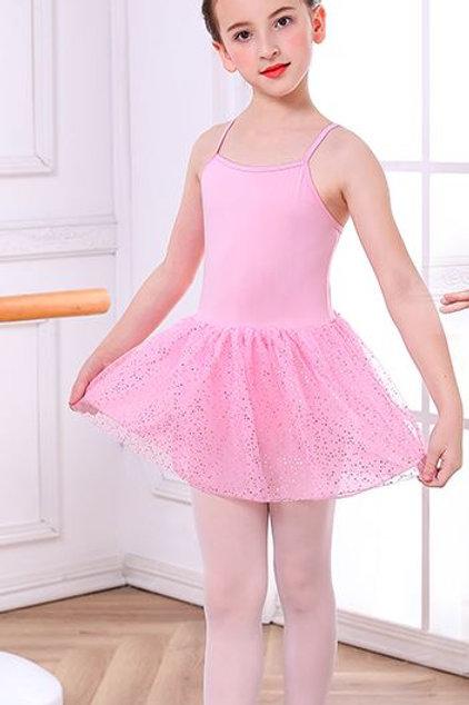 Ružové TUTU Body ŠATY na Balet Ramienka Trblietky