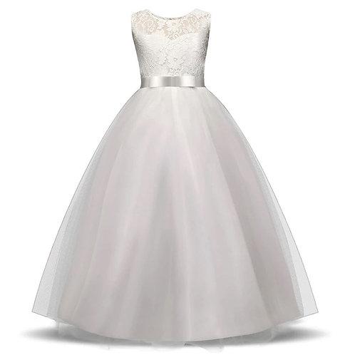 Dievčenské šaty WHITE Heart