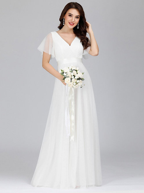 Biele Svadobné - Spoločenské šaty 7962
