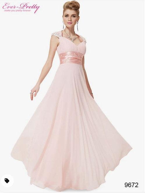 Ružove šaty 9672 SKLADOM